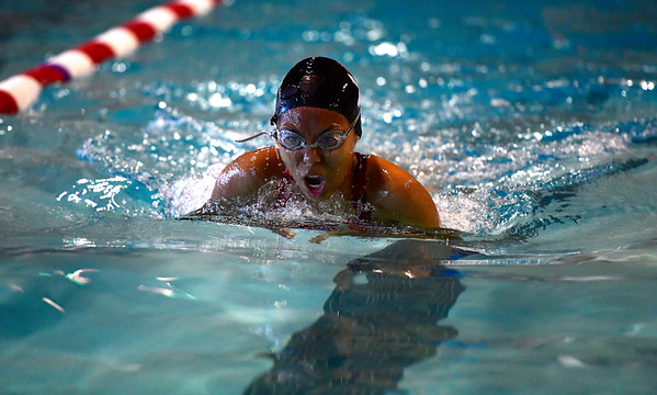 10/12/2019 Mike Orazzi | StaffrSt. Paul's Mary Melvin during the city swim meet on Saturday night.