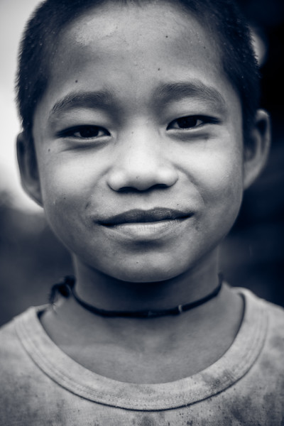 Yet another touching portrait of a young boy met in Kho Tha Village.