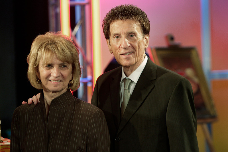 . Little Caesars Pizza founder Mike Ilitch, right, and wife Marian celebrate the companies 50th anniversary in Detroit, Friday, May 8, 2009. Ilitch also owns the Detroit Tigers Major League Baseball team and Detroit Red Wings NHL hockey team. Marian Ilitch bought the MotorCity Casino in April 2005. (AP Photo/Paul Sancya)