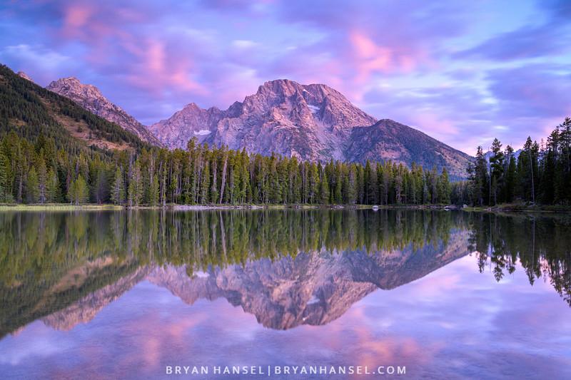 Mountains Reflecting in String Lake