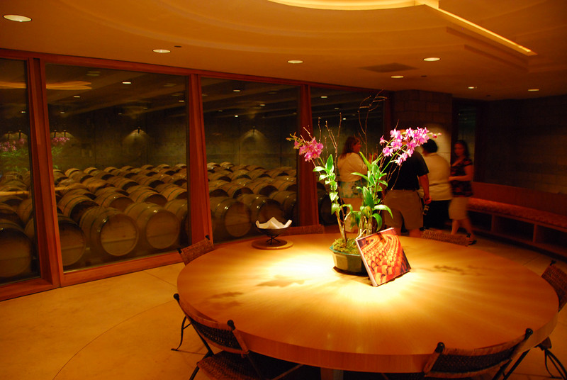 This is the beautiful private tasting room at Opus One.