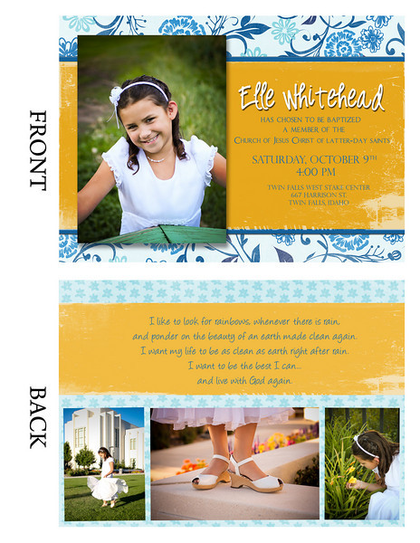 Elle Baptism Proof
