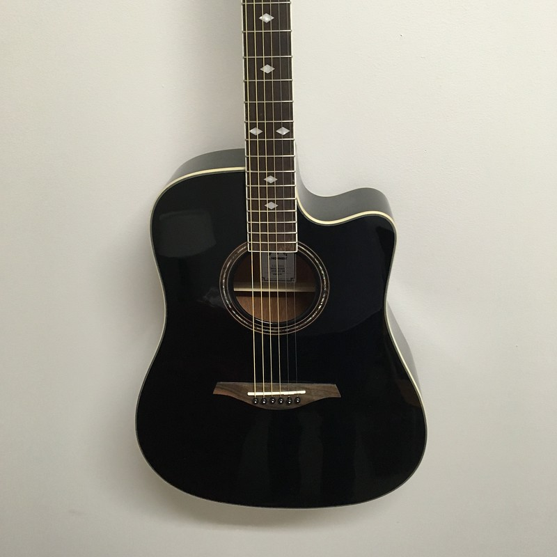 Hohner A+ Dreadnought Guitar A/E Black