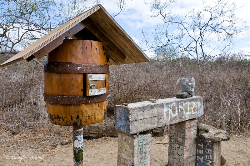 Post Office on Floreana Island...Put your mail in the barrel, take away any mail that you can deliver personally.