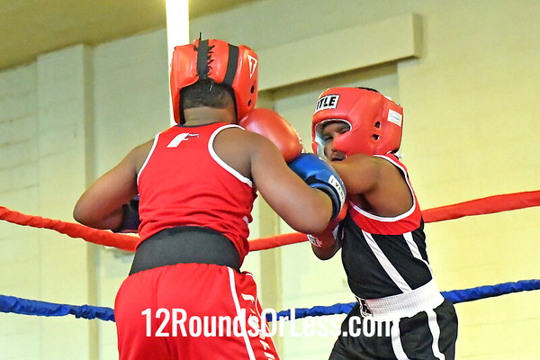 Bout 7 Eon Hutson, Blue Gloves, Detroit -vs- Amir Johnson, Red Gloves, Cleveland
