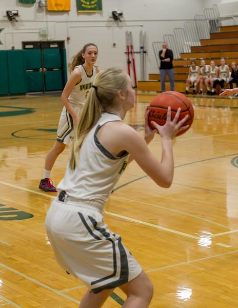 First-Second Quarter Set two: Vashon Island High School Girls Varsity Basketball v Aberdeen