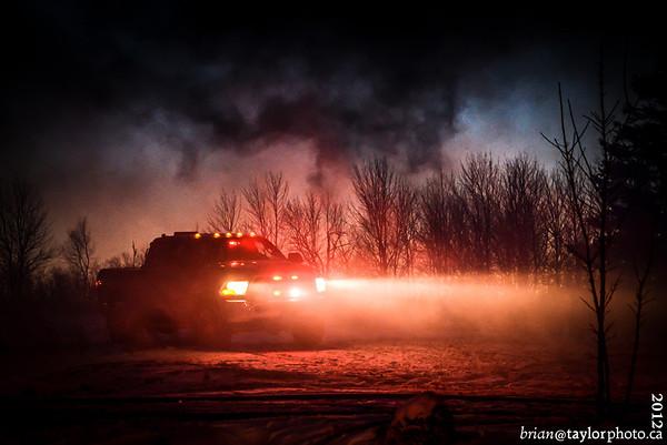 GARAGE FIRE, Aylesford Rd. Lake Paul, Nov. 30, 2012