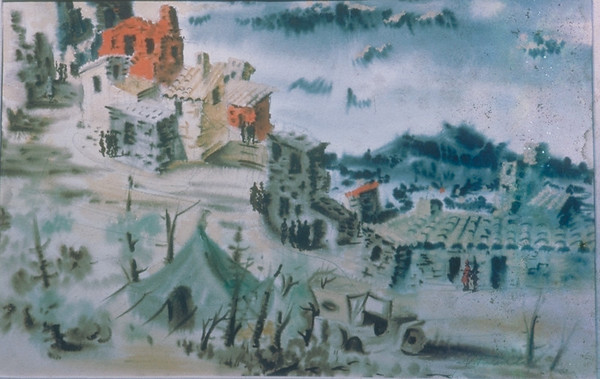 Works-WarWatercolors-Italy- 1945