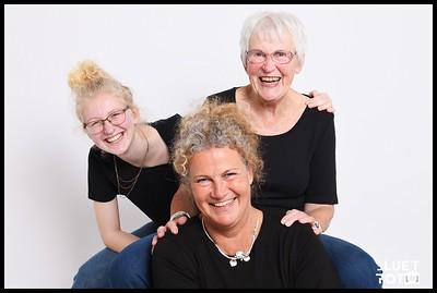 Ulla, Nina en Lotte juli 2020