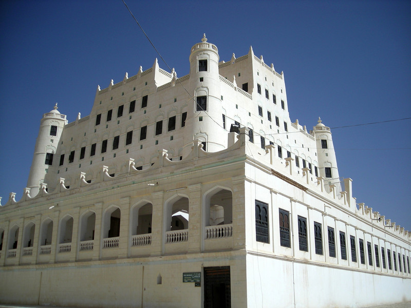 the Sultan's Palace in Seiyun.  the largest mud building in the world.