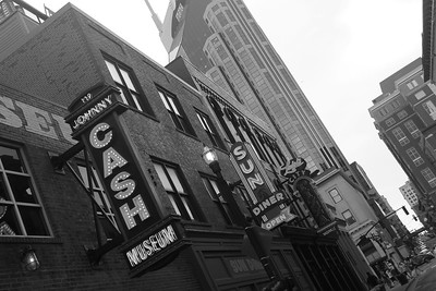 Reflections Of Nashville Tennessee In Black And White