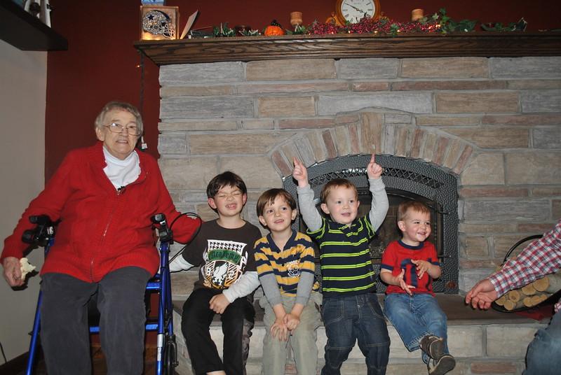 Norma Brockway, Alex & Derrick Bruso, Gavin Bertrand & Logan Brockway (Nov. 27, 2014) (3).JPG