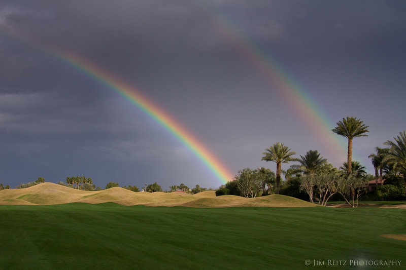 Double rainbow - Nicklaus Tournament Course, PGA West, La Quinta, CA