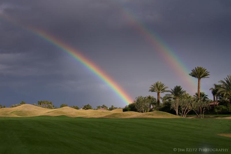 Double rainbow - Nicklaus Tournament Course, PGA West, La Quinta, CA