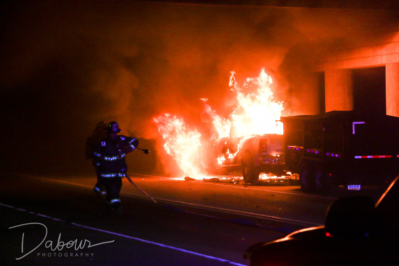 Pickup Truck Fire Franklin Twp NJ