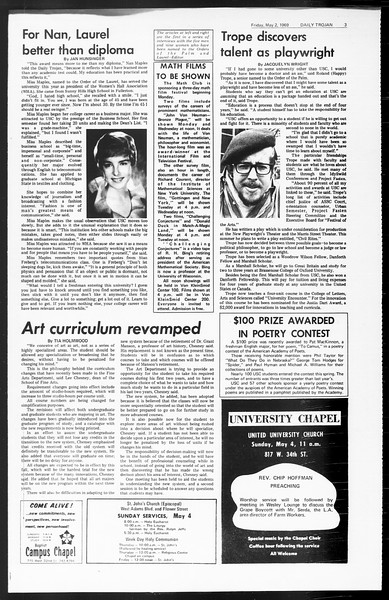 Daily Trojan, Vol. 60, No. 115, May 02, 1969