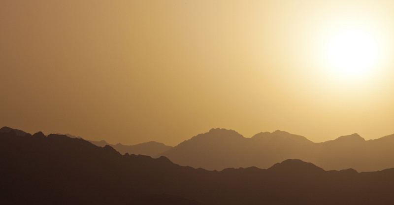 Hazy Sunset  Dahab, Egypt