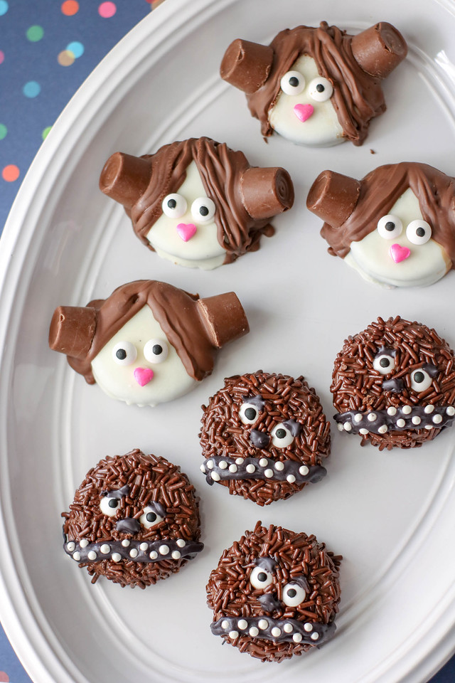 May the 4th Be With You! These Decorated Star Wars OREO Cookies are SUCH fun and are easy to make for May the 4th or for your upcoming Star Wars party/event