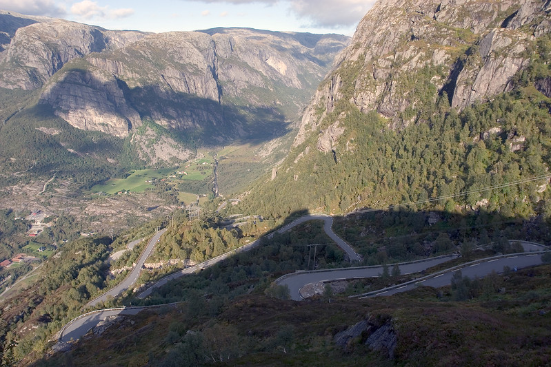 View on Lysebotn from lookout point.
