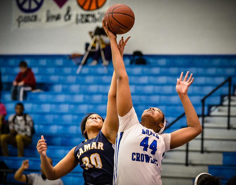 Basketball Girls Varsity vs  Lamar 01-21-14-24