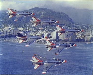 F-100 Super Sabre-North American -1956 thru 1963 - 642 flights / Super Sabre- North American-1964 thru 1968- 469 flights