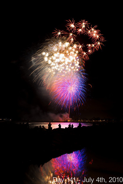 Today, we woke up late and went to see a matinee of Toy Story 3, which was really good! Later, we photographed the Ala Moana fireworks before settling into our hotel room to edit photos while sipping complimentary sparkling wine. Happy Fourth of July!