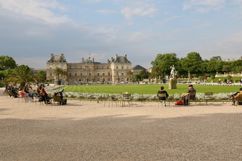 Luxembourg Palace, residence for the widow of King Henry IV, sits at the northern end of the Jardin du Luxembourg