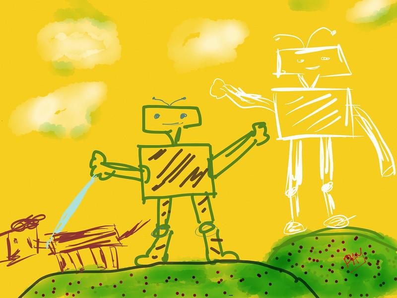 Robot and His Dog