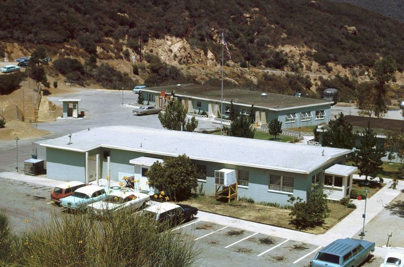 LA-78 Malibu Site - Admin Area - Mess Hall (foreground) Battery Hq (behind) - Aug 1966