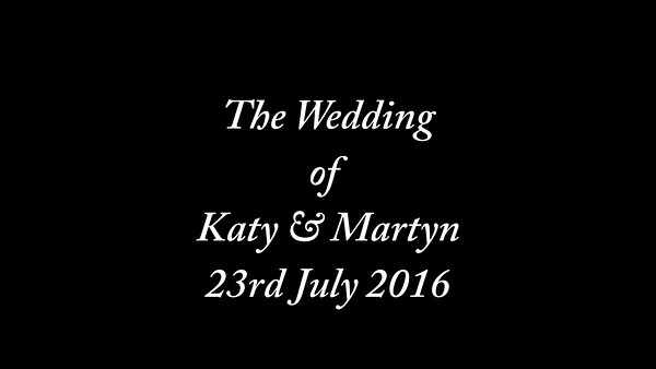 Katy & Martyn wedding video