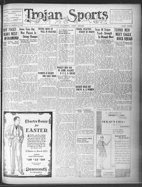 Daily Trojan, Vol. 20, No. 103, March 13, 1929
