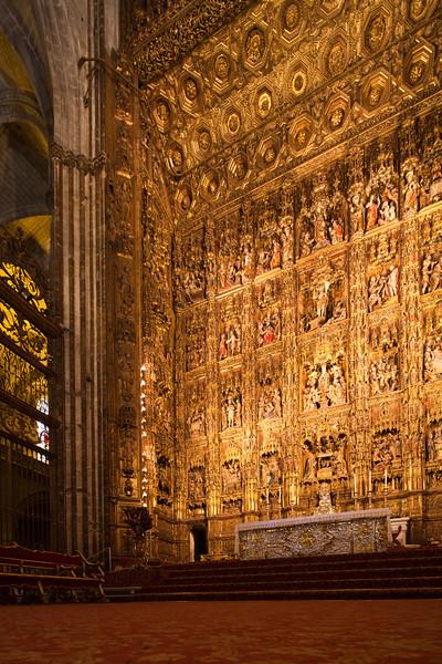 High altar, Santa Maria de la Sede Cathedral, Seville, Spain