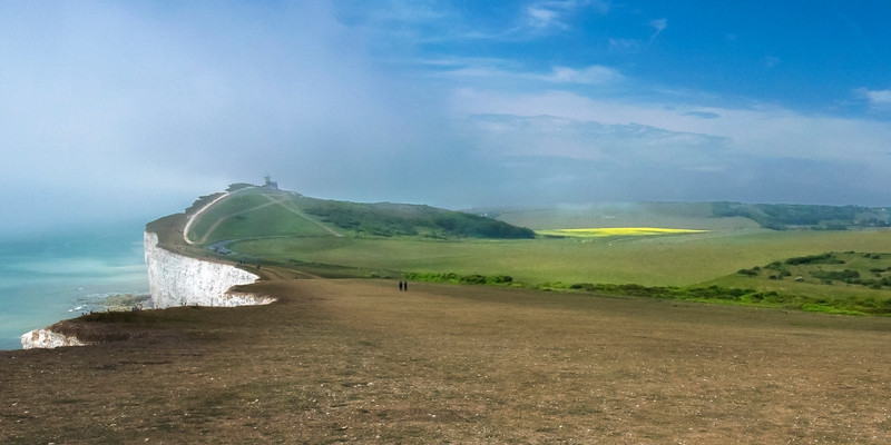 White Cliffs and Belle Tout Lighthouse