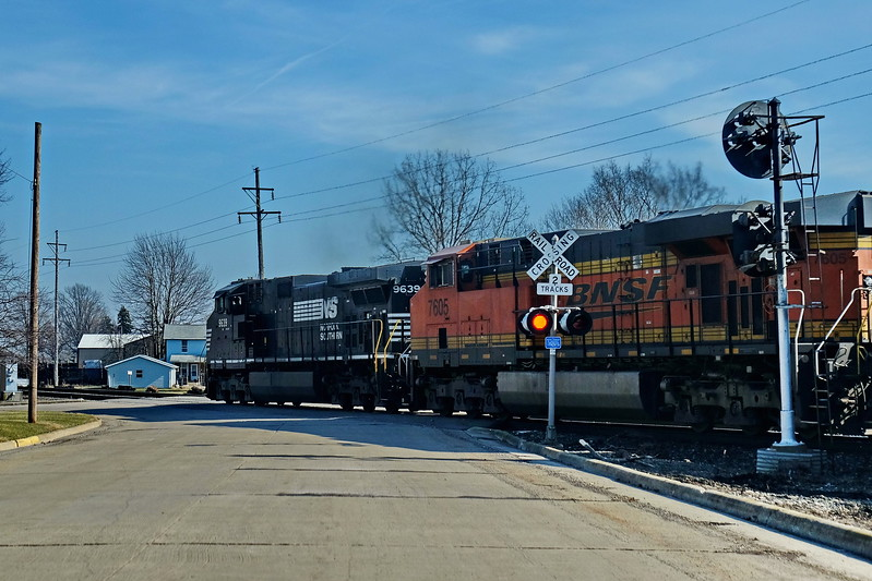 The train beating me again in Crestline OH. East Bucyrus St.