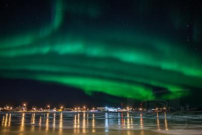 Auroras over Kotzebue.