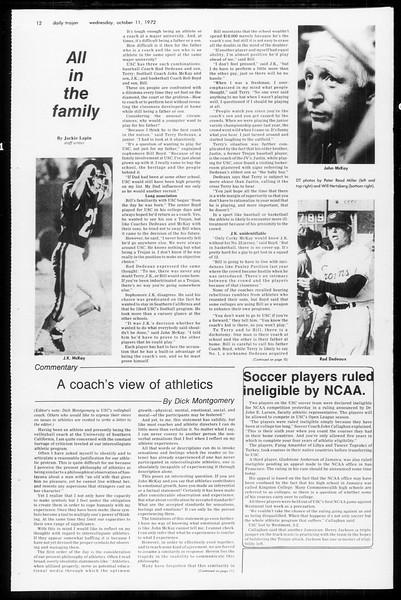 Daily Trojan, Vol. 65, No. 17, October 11, 1972