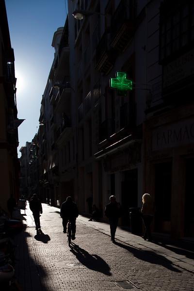 Street scene in the city center, Seville, Spain