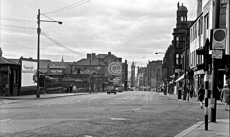 Looking down the High St. March 1973