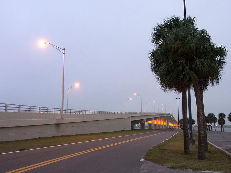 The Titusville-Merritt Island bridge Florida December 2012
