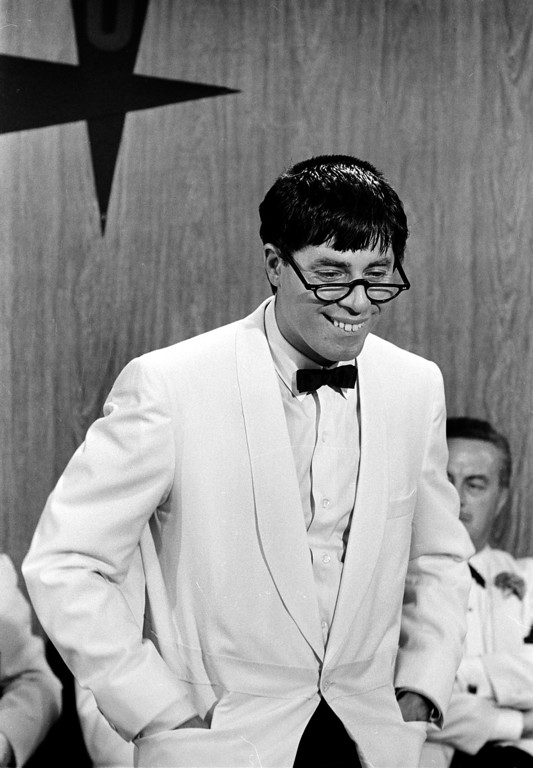 ". Actor-comedian Jerry Lewis is shown in the title role of the 1963 movie ""The Nutty Professor,\"" directed by Lewis.  (AP Photo)"