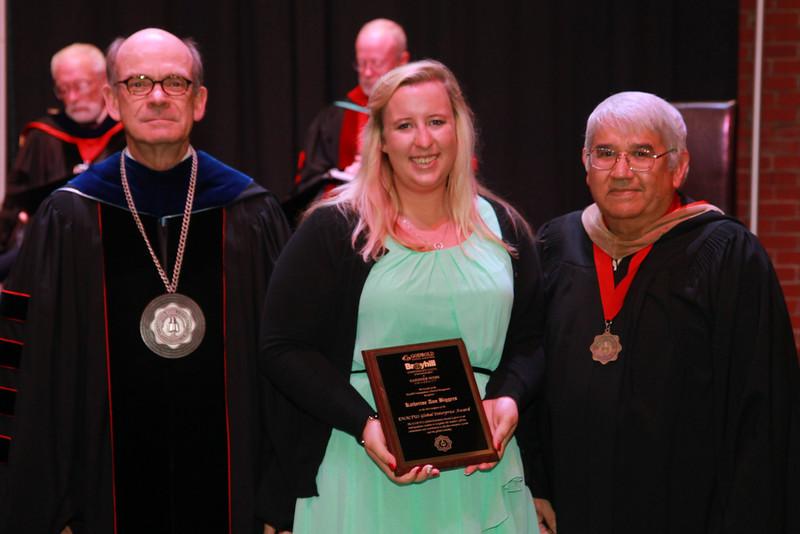 59th Academic Awards Day; Spring 2014. Enactus Global Enterprise Award: Katherine Anna Biggers