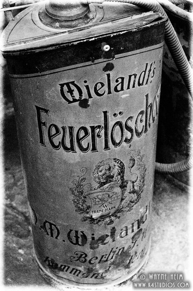 German Gas Can   black and White Photography by Wayne Heim