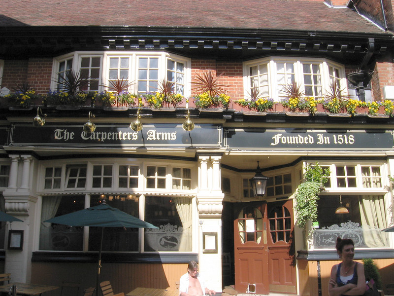 The Carpenters Arms, Windsor, built in 1518, has always been a public house. It had passages beneath it which went through to the Castle.