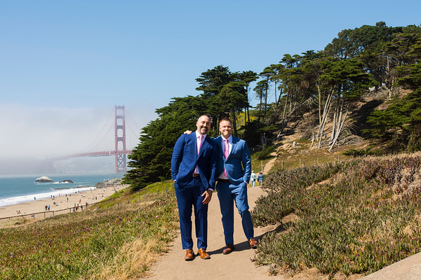 Randy and Kevin Wedding / Shakespeare Garden San Francisco
