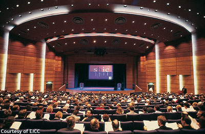 A large plenary session in the Pentland Auditorium, Edinburgh International Conference Centre.