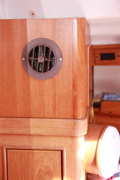 TUIT forward berth shore power AC vent and speaker.JPG