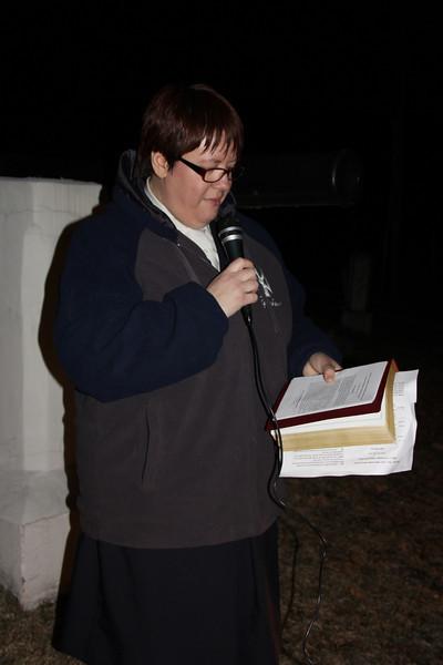 Son, Sunrise Service, Salvation Army, Odd Fellows Cemetery, Tamaqua (3-31-2013)