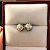 1.73ctw Georgian Peruzzi Cut Diamond Collet Stud Earrings 10
