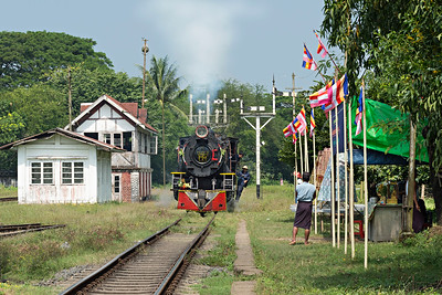Light engine moves at Bago