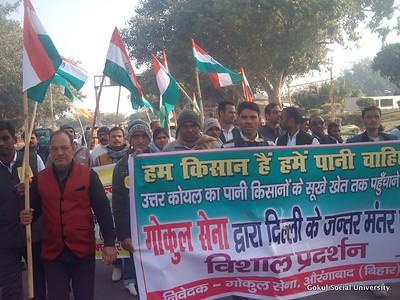 North Koel Kutaku Dam - Protest in Delhi
